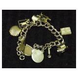 Sterling Bracelet w/ Sterling Charms