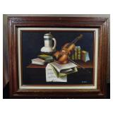 A. Wainer Violin Musical Oil Painting