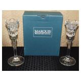 "Marquis Waterford 8"" Candlesticks"