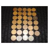 (34) Wheat Pennies Grouping