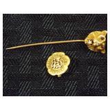 14K Gold Pins, Facta Non Verba 1910