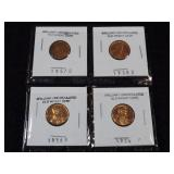 (4) Near Uncirculated Wheat Pennies