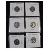 6 Steel Pennies