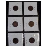 6 Indian Head Cents,
