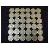 (36) Buffalo Nickels Grouping