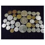 Assorted American & Foreign Coins