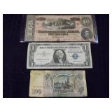 3 Bank Notes Grouping