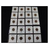 20 Wheat Pennies Grouping