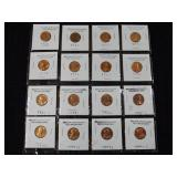 16 Uncirculated Old Lincoln Cents