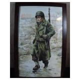 WWII GI Water Color Painting