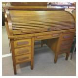 Fishel Oak Roll Top Desk, Item on RESERVE