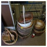 Lot of Assorted Orchard Baskets & Baskets