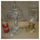 Lot of 2 Crystal Table Lamps