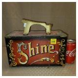 Replica Wood Shoe Shine Box 5 Cent