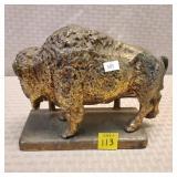 Brass Buffalo Statue