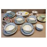 Lot of Assorted English Bone China Porcelain