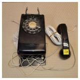 Western Electric Bell System Black Dial Wall Phone