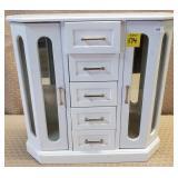 White Wood Jewelry Box