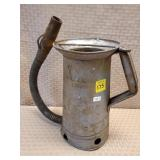 Galvanized Half Gallon Oil Can w/ Spout