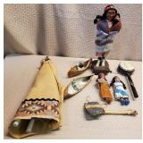 Tray Lot of Native American Style Collectibles