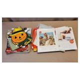 Lot of Assorted Ephmera, Halloween, Books