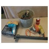 Black& Decker Drill, Galvanized Bucket Staple Gun