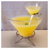 Yellow Vintage Chip & Dip Bowl Set