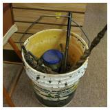 Bucket of Drill Bits & Tools