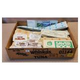 Tray of Green Stamps, Chesterfield Super Coupons,