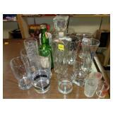 Lot of Assorted Bar Glasses, Shot Glass, etc