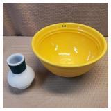 Baver #9 Yellow Mixing Bowl, chip on bottom