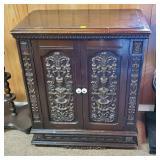 Vintage Cabinet w/ 2 Shelves