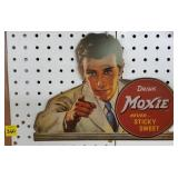 Card Board Moxie Drink Advertisment