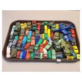 Tray of Pyro USA, Mohawk, Hong Kong Plastic Cars