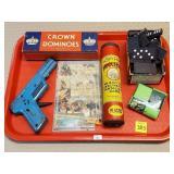 Dominos, Metal Toy Gun, Fiddlesticks, etc