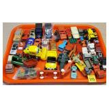 Tray Lot of Assorted Toy Cars & Trucks