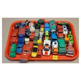 Tray of Assorted Cars & Trucks