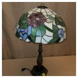 Reproduction Stain Glass Table Lamp