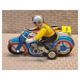 Chinese Tin Replica Wind Up Motorcyle w/ Sidecar