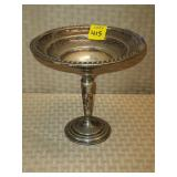 Sterling Weighted Candle Dish on Stand