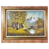 W. Norwood Nature Cottage Oil Painting