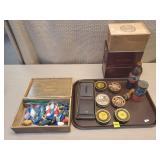 Shoe Shining Items, Cigar Boxes, Xmas Lightbulbs