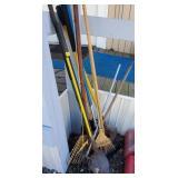 Lot of Rakes, Shovels, Yard Tools