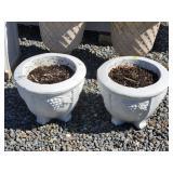2 Concrete Grape Planters