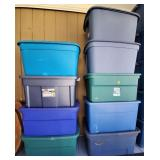Lot of Assorted Totes 31 Gallon, 33, 30