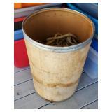 Barrel of Assorted Rope