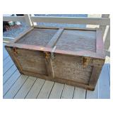 Large Gray Painted Trunk