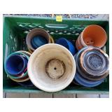 Crate of Assorted Planters