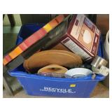 Box Lot of Bakeware, Household Items, Etc