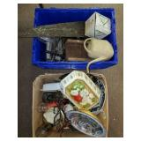 2 Boxes Lot of Household Items, Glass, Decor